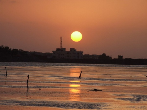 Sunset At Randada Lake, Rajkot, Gujarat, India.