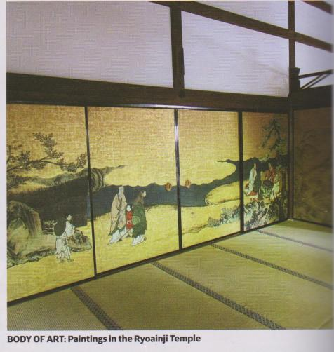 paintings in the ryoainji temple