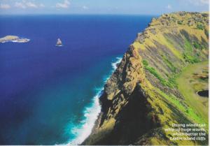 easter island cliffs