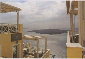 a cafe in city of fira
