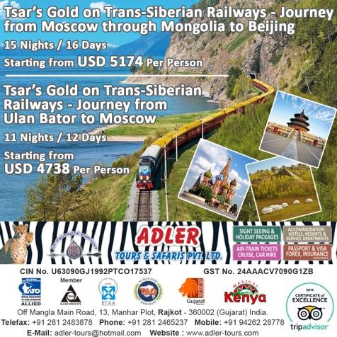 Tsars Gold - Trans Siberian Railways copy