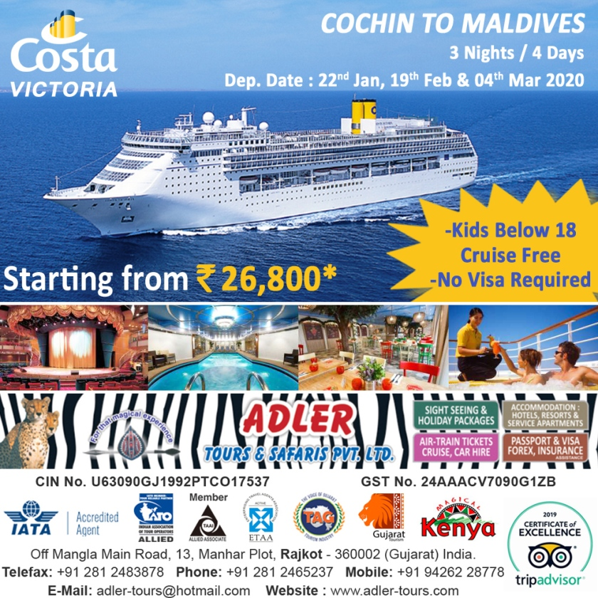 COSTA VICTORIA - Cochin to Maldives copy